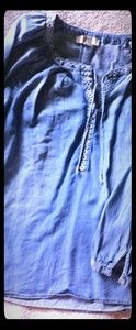 Vintage America blues denim color tunic sz Medium